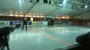 Curling op de kunstijsbaan